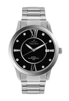 Unisilver TIME Men's Epiphany Watch KW1382 -1102 Silver/Black