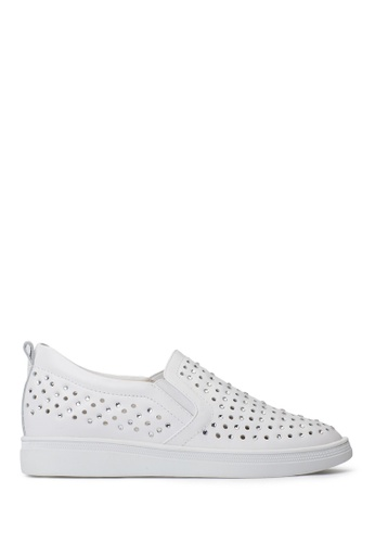 PAZZION Edge Crystal Sneakers PA624SH0SXT1MY_1
