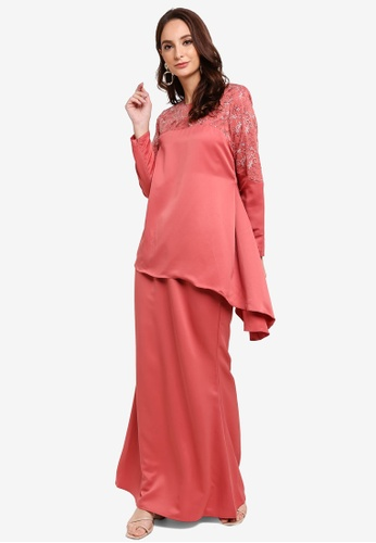 Gene Martino brown Kurung Modern 722AEAABA49491GS_1