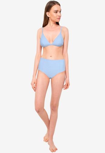 Rip Curl blue Premium Surf Banded Fixed Bikini Top E456FAAACD6EA9GS_1