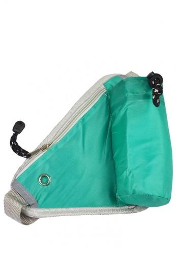 Lemon Cotton green Versatile Leisure Bag With Water Bottle Pouch 802D5ACD284EC4GS_1