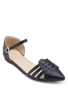 Yvonne 編織尖頭平底鞋