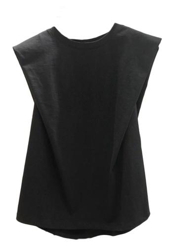 Sunnydaysweety black Plain Simple Sleeveless T-shirt Top A21032014BK A18F7AA965B7C7GS_1