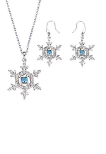 ADORA blue Swarovski Dangling Set 2A156AC0B6FAFEGS_1