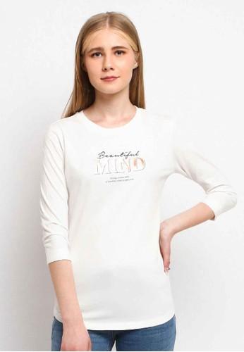C2 Outfitters beige Suelka Ecru T-Shirt 6F681AA6DE533EGS_1