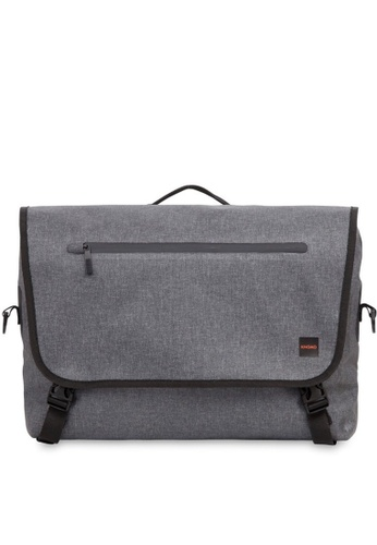 "knomo grey Rupert 14"" Laptop Messenger (Grey) 48C47AC7123E67GS_1"