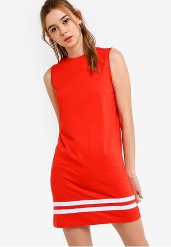Something Borrowed 紅色 運動條紋無袖洋裝 E10ADAA8376D34GS_1