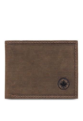 Lumberjacks 暗紋對折皮夾esprit 錶, 飾品配件, 皮革
