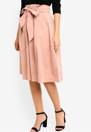 ZALORA beige Paper Bag Skirt FE274AAF699852GS_1