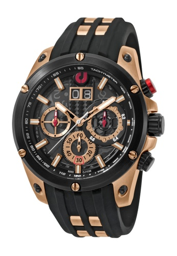 Charles Jourdan black Charles Jourdan Men CJ1036-1772C Black Silicone Watch 15359AC5695BC2GS_1