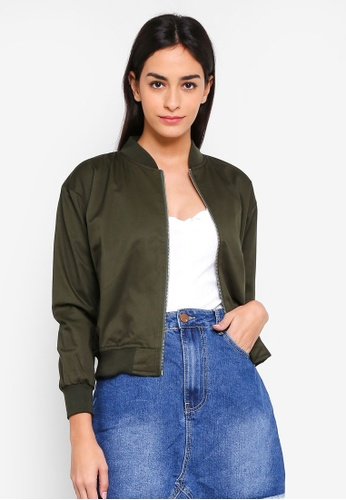 MKY Clothing green Drill With Lining Bomber Jacket EBDC2AAEBAE406GS_1