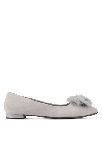 DMK grey Pointed pumps with Pompoms DM860SH0SF4XMY_1