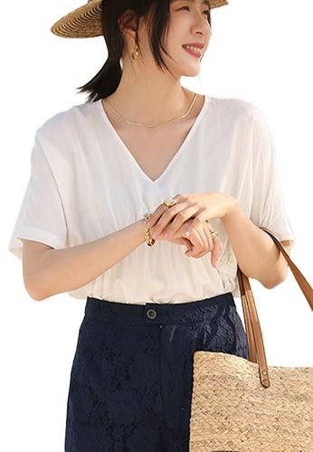Sunnydaysweety white Korean Style Sweety Short-Sleeved Doll Shirt Waist Top A21031207W CC45BAAC0C21F7GS_1