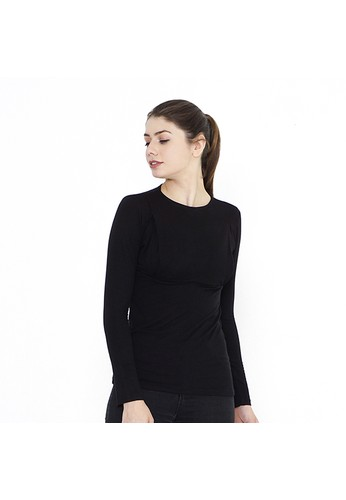 Mamibelle Nursingwear black Mamibelle Mira Black Baju Hamil & Menyusui Inner Spandex Premium 6682FAA07F4369GS_1