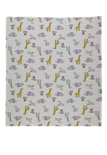LC Waikiki beige Baby Girl's Muslin Blanket 376B3KC52EA7D1GS_1