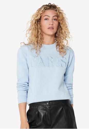 JACQUELINE DE YONG blue Paris Life Sweater 5487BAA447C6CBGS_1
