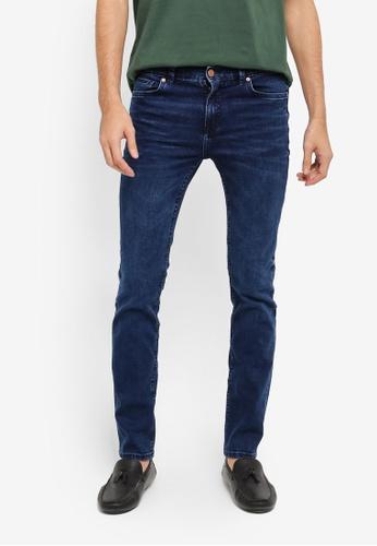 MANGO Man blue and navy Slim-Fit Dark Wash Jan Jeans MA449AA0T1EGMY_1