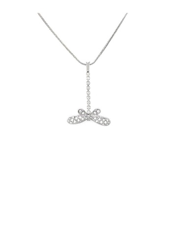 Glamorousky silver Lovely Dragonfly Necklace with Silver Austrian Element Crystal E5506ACB146F5FGS_1