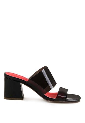 London Rag black Clear Strappy Heel Sandal F7B9CSHD30E55AGS_1