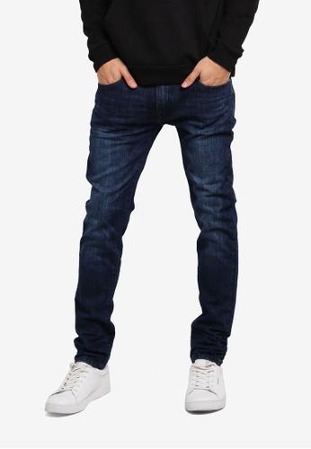 ZALORA blue Skinny Fit Crinkled Jeans CBCB6AA2EC2438GS_1