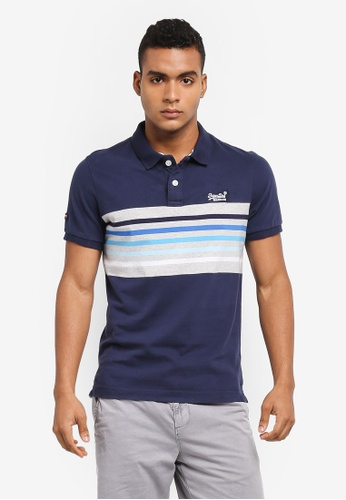 Superdry navy CLASSIC CALI S/S BANNER POLO D3301AACDA276EGS_1