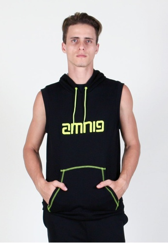AMNIG black Sleeveless Track Hoodie AM133SE52UPBMY_1