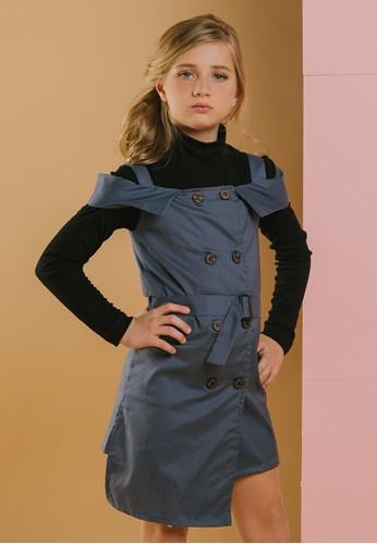 Feather & Flynn grey Feather & Flynn KVxClarice - Khloe Trench Dress DED08KAFD2DE44GS_1