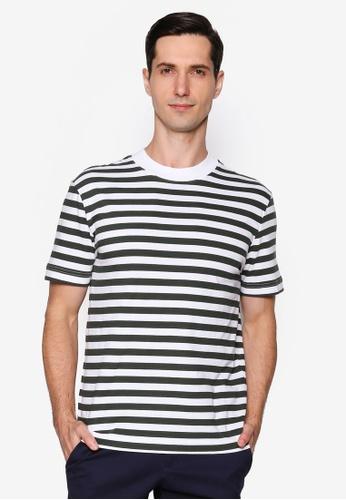 Selected Homme white Stripe Tee 081F7AAE04E7CEGS_1