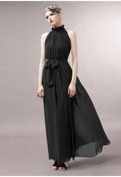 Turtleneck Solid Sleeveless Straight Dress
