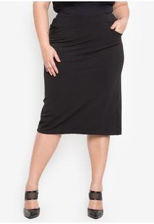 fd5240ecd64 Plus Size Polystretch Skirt 7667EAAA1D37D9GS 1