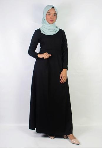 Zaryluq black Pleated Dress in Espresso 2EC06AABC07A66GS_1
