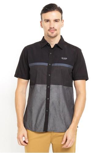 LGS black LGS - Slim Fit - Kemeja Fashion - Color Block - Hitam E3E86AABA88BE4GS_1