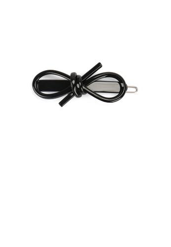 Glamorousky black Simple Fashion Black Ribbon Hair Clip DE145AC69F7E28GS_1