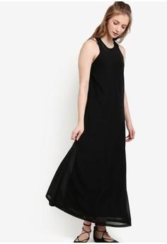 Something Borrowed-背心襯裡薄紗連身長裙