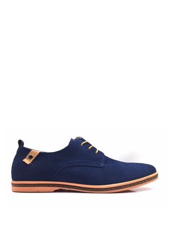 Twenty Eight Shoes 藍色 VANSA 牛猄皮休閒鞋  VSM-CK01 DC2EDSH0EA4003GS_1