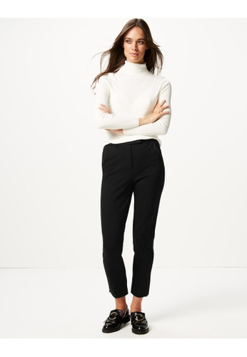 MARKS & SPENCER black M&S Mia Slim Jersey Ankle Grazer Trousers BC598AA29A08DEGS_1