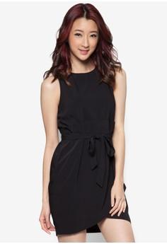 Wrap Skirt Dress With Waist Sash