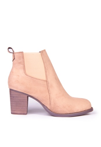 Sunnydaysweety beige Big Sale Item - Korean Classic High-heeled Ankleboots C12097BE SU219SH0F9RMSG_1