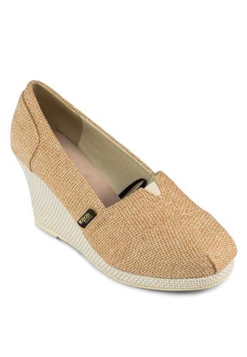 Shingeta 簡約esprit高雄門市編織楔形鞋, 女鞋, 楔形鞋