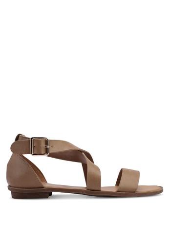 Bata 米褐色 繞帶涼鞋 B17F4SHCDF753DGS_1