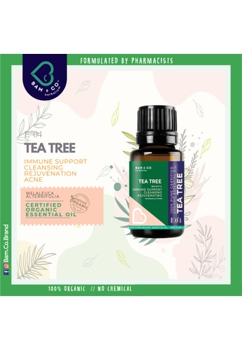 BAM & CO. BAM & CO. TEATREE CERTIFIED PURE ORGANIC ESSENTIAL OIL PERFECT FOR HUMIDIFIER 10ML 8C310ES2147C21GS_1