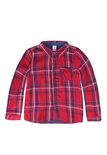 LC Waikiki red Chequered Shirt D9B78KA5487F16GS_1