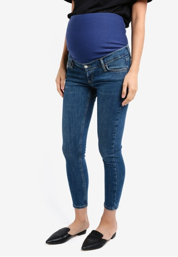 TOPSHOP 藍色 Maternity Green Cast Jamie Jeans TO412AA0SRSHMY_1