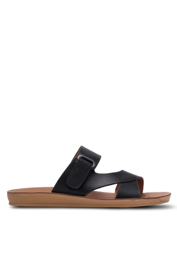 Noveni black Double Strap Sandals NO978SH0RX32MY_1