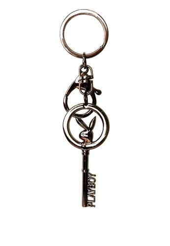 Playboy 黑色 Playboy Keychain 53A72AC8B038F1GS_1