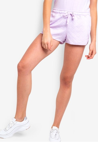 Cotton On Body purple Textured Shorts 79F15AA3E7DB4CGS_1