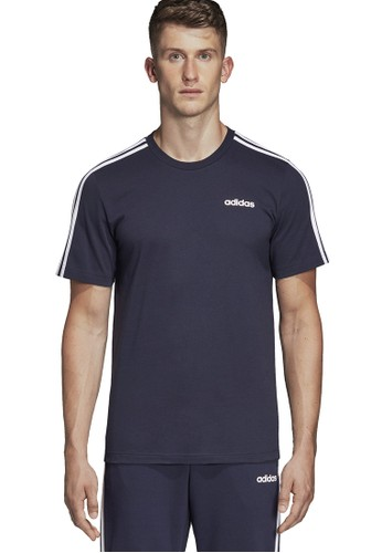 ADIDAS blue essentials 3 stripes t-shirt A75ECAADDF8E9FGS_1