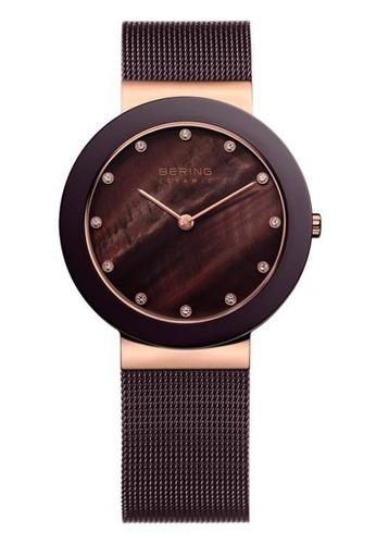 Bering brown Ceramic 11435-262 Mother Of Pearl 34 mm Women's Watch 8E26DAC09F773FGS_1