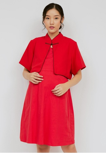 Chantilly red Chantilly Dress 2in1 Pregnant / Breastfeeding with Slimming Effect CD973AA070D136GS_1