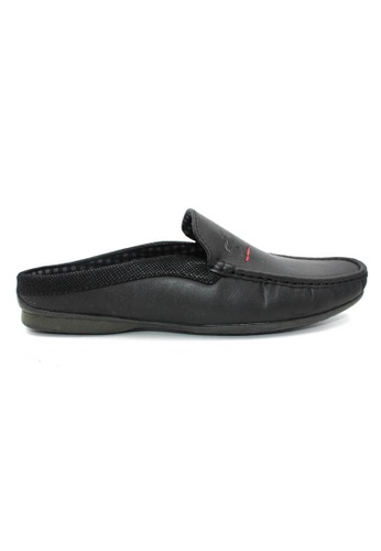 midzone black EXO SCORPION Faux Leather Loafer AC42DSH7AD00B5GS_1